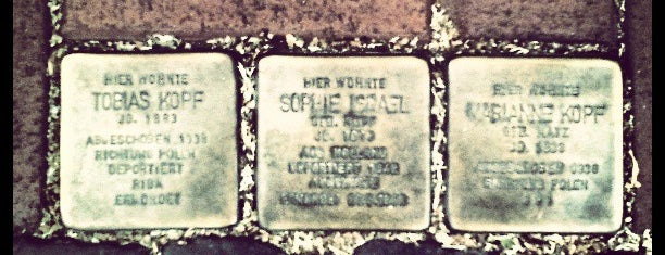 3 Stolpersteine Kopf und  Israel is one of Stolpersteine 1933 - 1945.