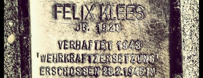 Stolperstein Felix Klees is one of Stolpersteine 1933 - 1945.