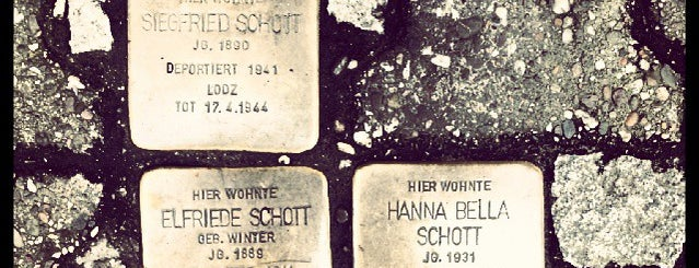 3 Stolpersteine Schott is one of Stolpersteine 1933 - 1945.
