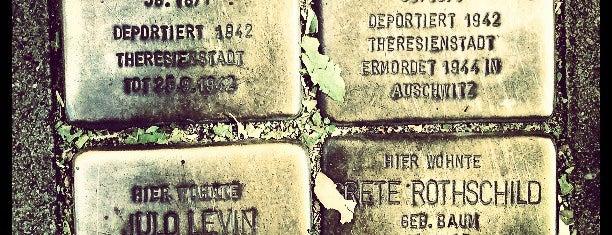 4 Stolpersteine Levin, Baum, Rothschild is one of Stolpersteine 1933 - 1945.
