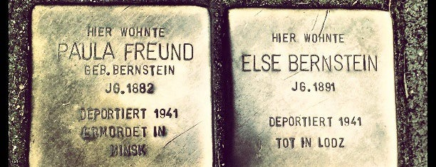 2 Stolpersteine Freund & Bernstein is one of Stolpersteine 1933 - 1945.
