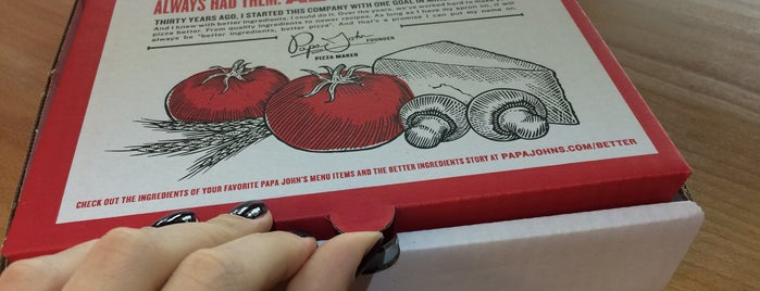 Papa John's Pizza is one of Orte, die Elena gefallen.