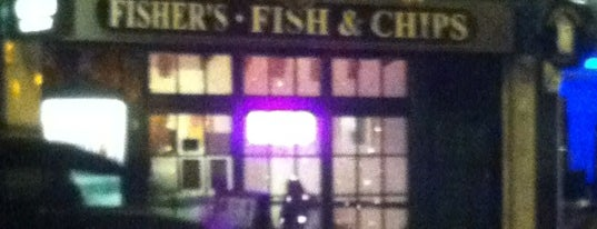 Fishers Fish And Chips is one of Londra konsolosluk günü.
