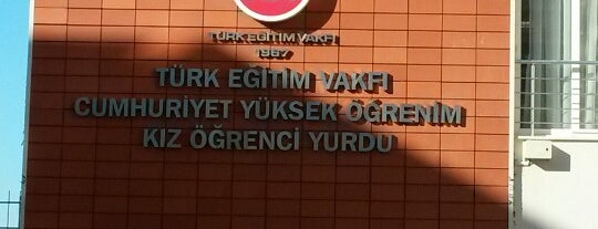 Özel TEV Cumhuriyet Kız Ögrenci Yurdu is one of สถานที่ที่ ΞΗеЯмΛfЯΔDÎτ ถูกใจ.