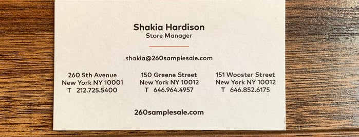 260samplesale is one of Flatiron and Gramercy.
