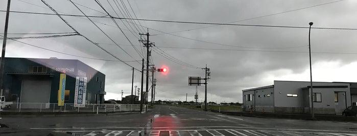橘新交差点 is one of 交差点@石川県能美郡川北町.