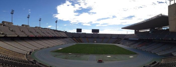 Estadio Olímpico Lluís Companys is one of Lugares favoritos de Amit.