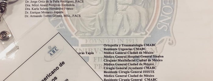 Urgencias Centro Médico ABC is one of Veneさんのお気に入りスポット.