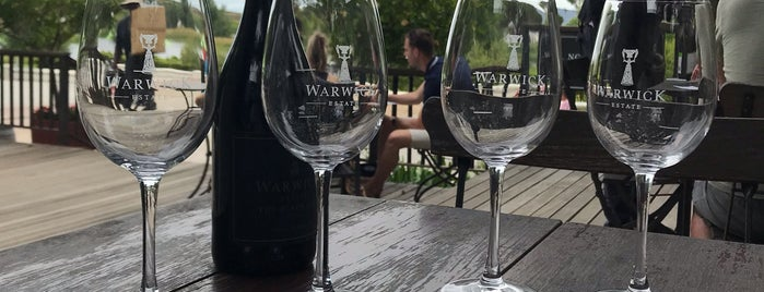 Warwick Wine Estate is one of Stellenbosch.