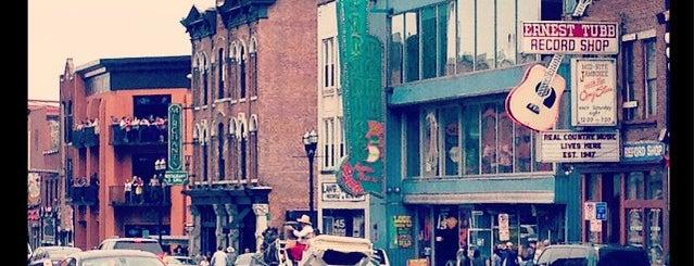 Broadway is one of Taylor Swift's Favorite Spots in Nashville.