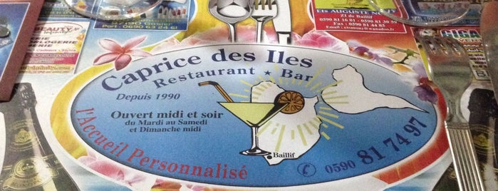 Caprice Des Iles is one of Martinique & Guadeloupe.
