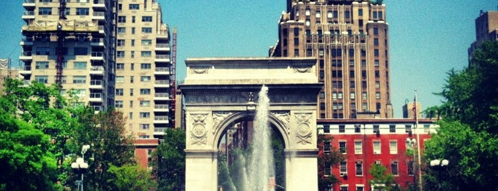 Washington Square Park is one of Places.