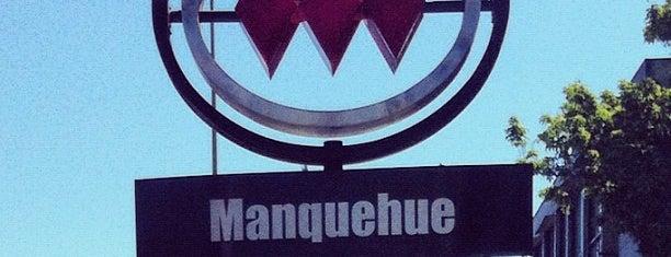 Metro Manquehue is one of Linea 1 Metro de Santiago.
