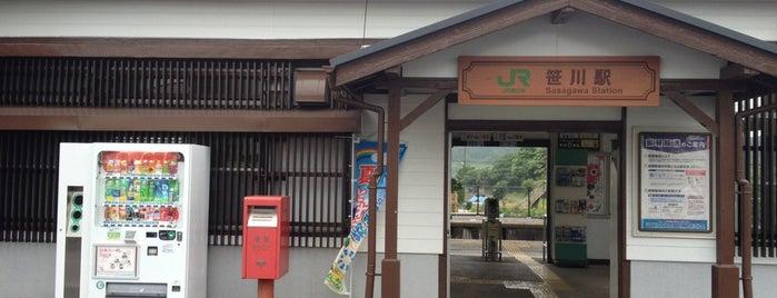 Sasagawa Station is one of JR 키타칸토지방역 (JR 北関東地方の駅).