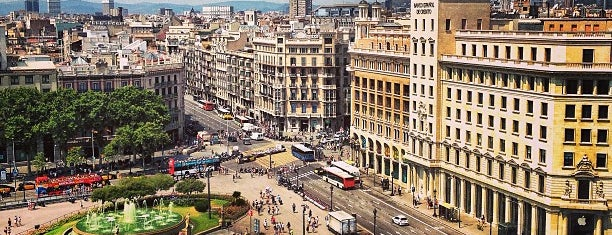 Plaça de Catalunya is one of Europe.