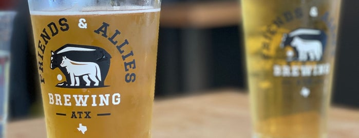 Friends and Allies Brewing is one of Austin.