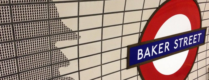 Baker Street London Underground Station is one of Railway stations visited.
