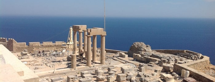Acropolis of Lindos is one of Rhodes.