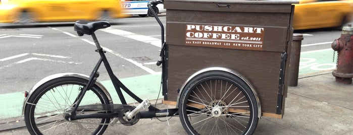 Pushcart Coffee is one of cold brew fix - NY airbnb.