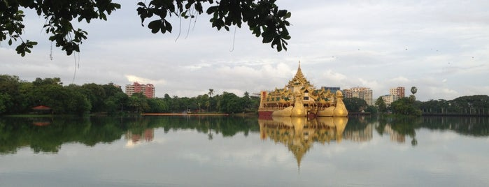 Kandawgyi Lake is one of Yangon, Myanmar.