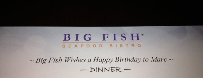 Big Fish Seafood Bistro is one of Lugares guardados de Lizzie.