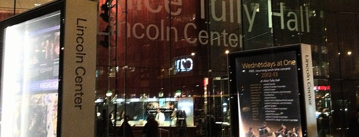 Alice Tully Hall at Lincoln Center is one of NYC Places I Have Been to Recently.