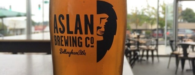 Aslan Brewing Company is one of Lugares favoritos de Bridget.