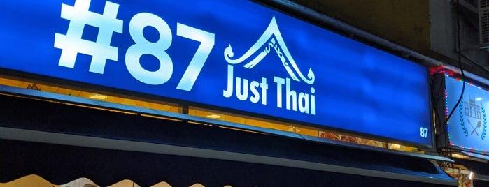 #87 Just Thai is one of Lugares favoritos de Joyce.