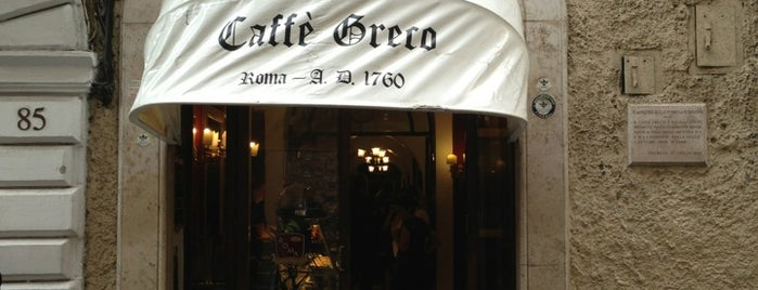 Antico Caffè Greco is one of Rome.
