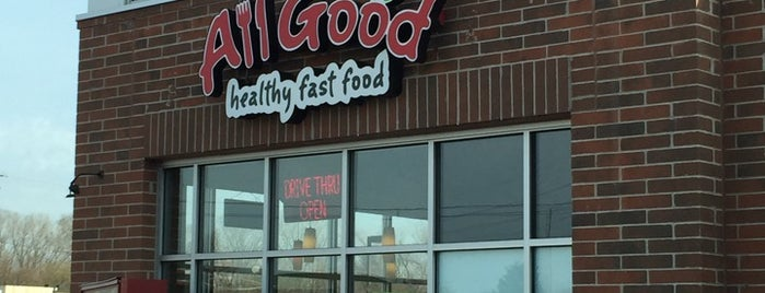 All Good Healthy Fast Food is one of Locais salvos de Krista.