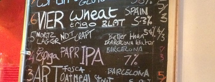 CatBar is one of Barcelona Craft Beer.