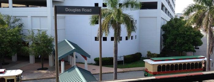 MDT Metrorail - Douglas Road Station is one of sole.