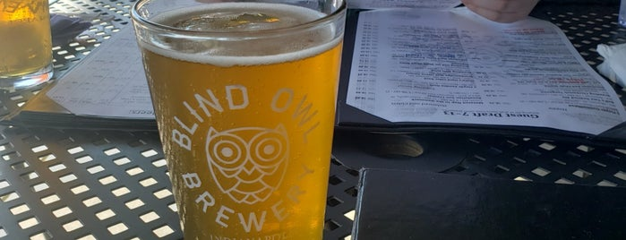 Blind Owl Brewery is one of Indy.