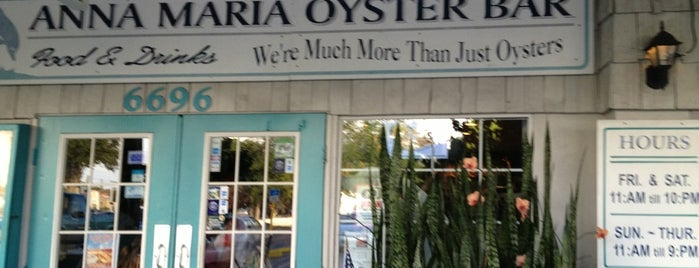 Anna Maria Oyster Bar is one of Seafood Restaurants.