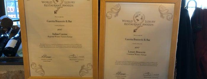 Gazetta Brasserie - Pizzeria is one of 🌜🌟hakan🌟🌛 : понравившиеся места.