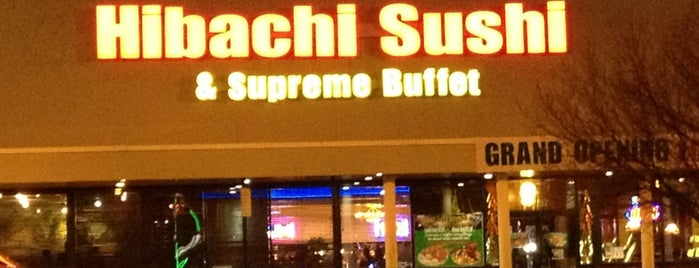 Hibachi Sushi & Supreme Buffet is one of Charlene's Liked Places.