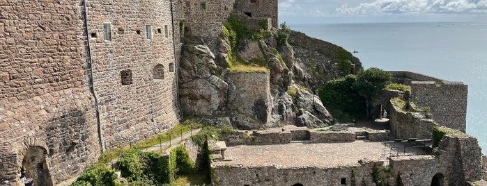Mont Orgueil Castle (Gorey Castle) is one of Jersey.