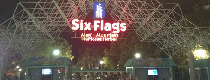 Six Flags Magic Mountain is one of Places I want to go in California.