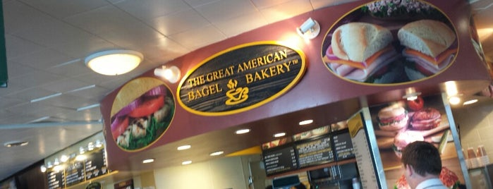 The Great American Bagel Bakery is one of Lugares favoritos de Kyle.