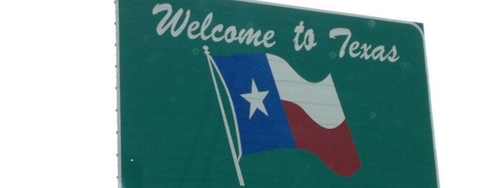 Oklahoma / Texas Border is one of M's ever-growing list of random stuff.