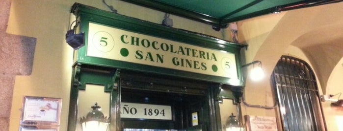 Chocolatería San Ginés is one of Madrid Tour.