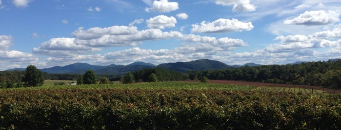 Afton Mountain Vineyards is one of Charlottesville Wineries.