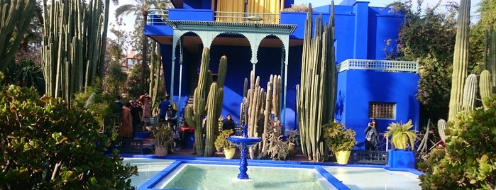 Majorelle Gardens is one of Locais curtidos por Vedat.