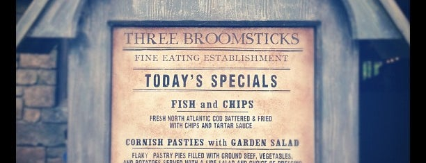 The Three Broomsticks is one of Universal Studios.