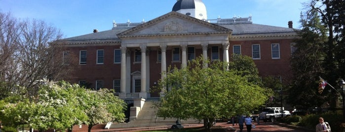 Maryland State House is one of The Crowe Footsteps.
