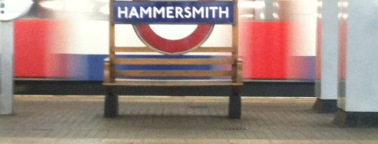 Hammersmith London Underground Station (District and Piccadilly lines) is one of United Kingdom, UK.