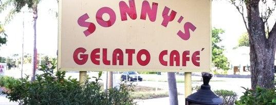 Sonny's Gelato Cafe is one of Boca faves.