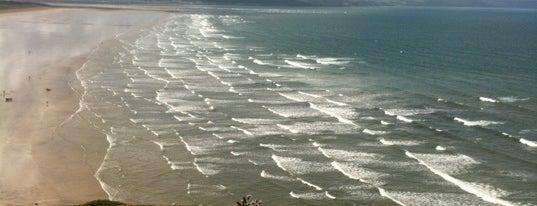 Saunton Sands Beach is one of Lugares favoritos de Del.