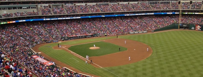 Globe Life Park in Arlington is one of Sporting Venues To Visit.....