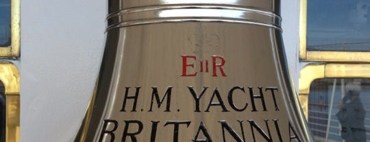 The Royal Yacht Britannia is one of Edinburgh.